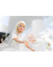 Tort z motywem Barbie